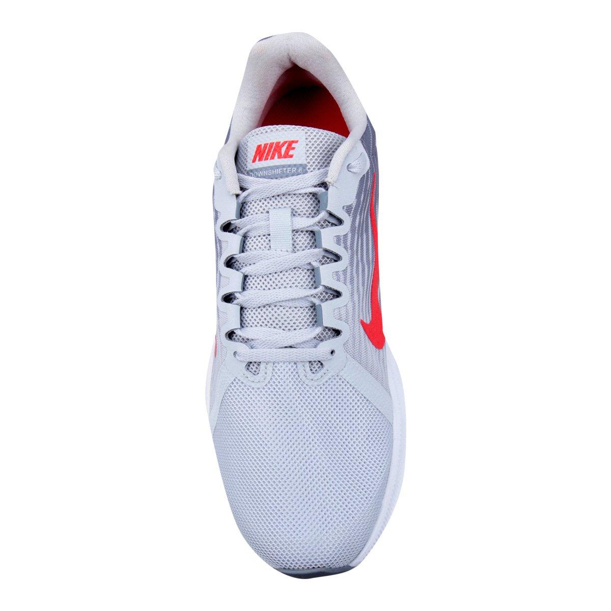 Tênis Nike Wmns Downshifter 8 Masculino Cinza E Vermelho
