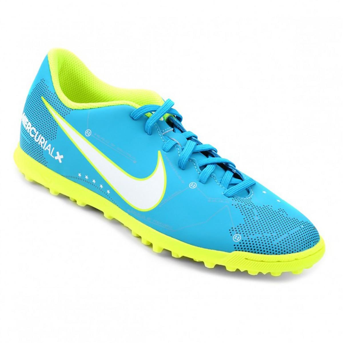 Chuteira Nike Mercural Vortex III Neymar Junior Azul - Compre Agora ... 8f200bfed3dea