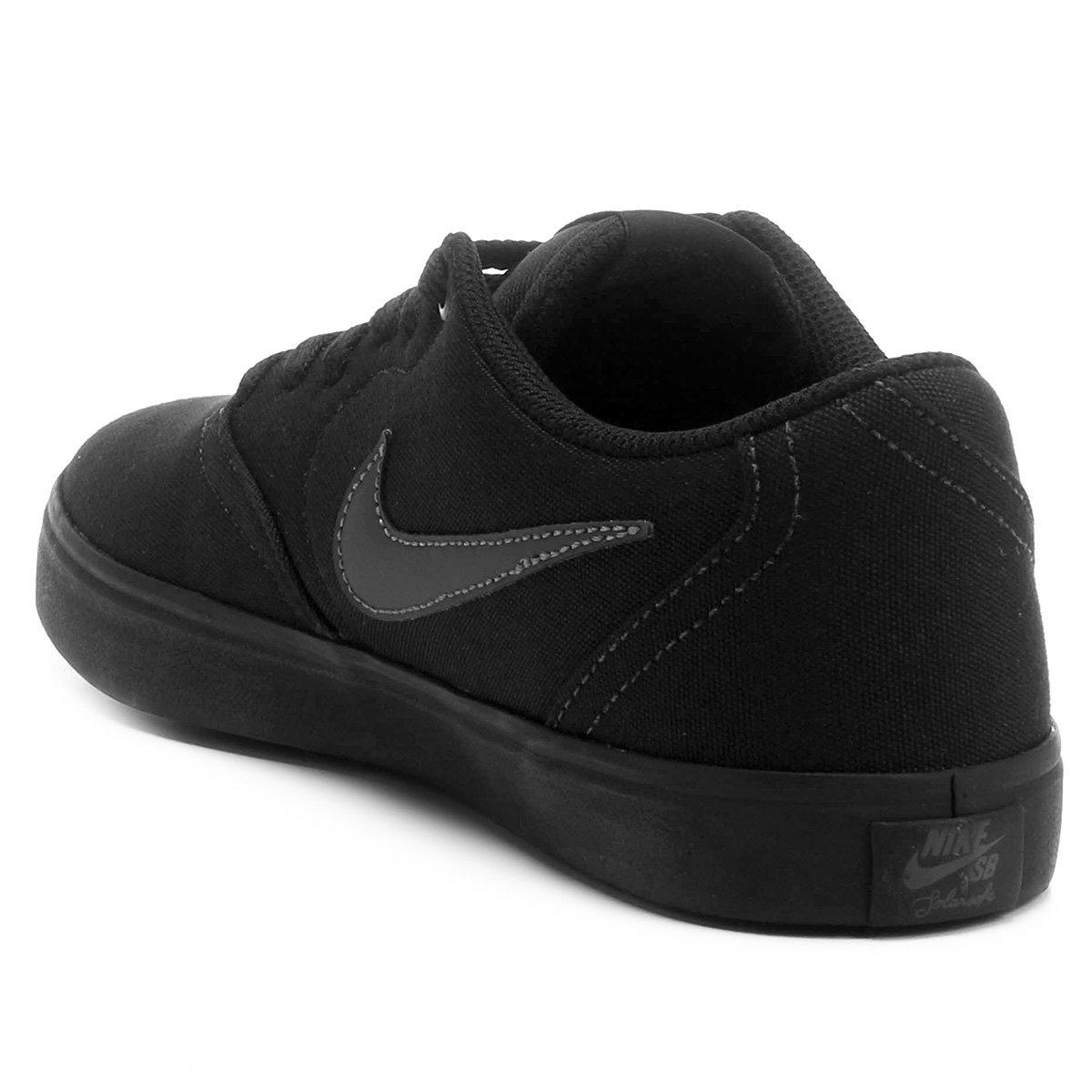 f2ec89a82bb Tênis Nike Sb Check Solar Cnvs Preto Masculino - Compre Agora ...
