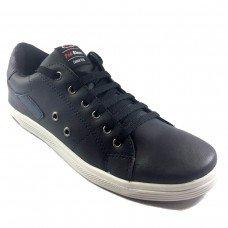 Sapatênis Ped Shoes Masculino - Preto e Petróleo