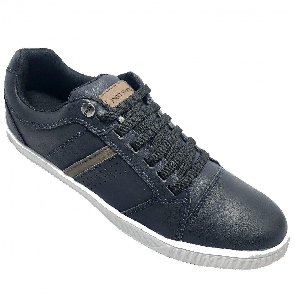 23840399d16 Sapatênis Ped Shoes Casual Detalhe Masculino - Marinho e Cinza ...