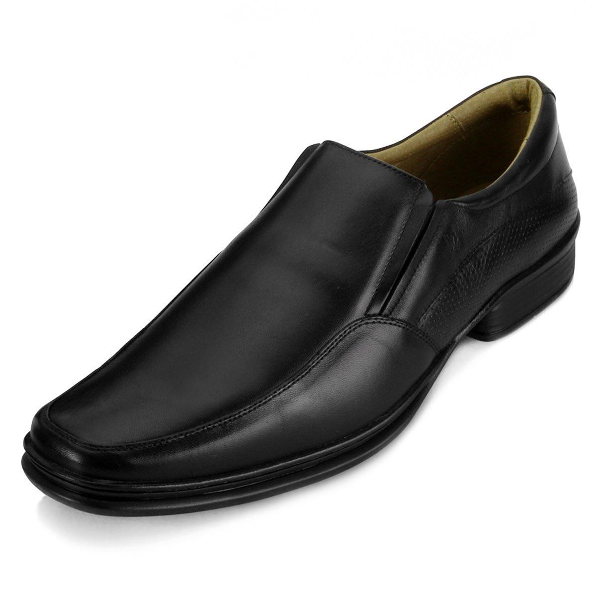 a1c248e4b Sapato Social Masculino Rafarillo Conforto Couro Preto - Compre Agora