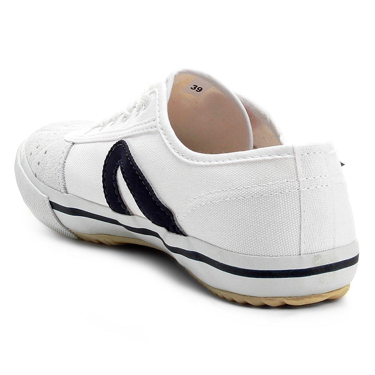 a90826a3e93 Tênis Masculino Rainha VL-2500 Branco e Marinho - Compre Agora