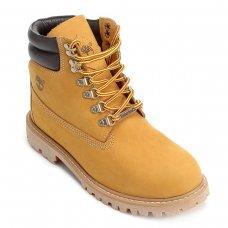 Bota Couro Timberland Brooklyn Boot Masculina - Bege