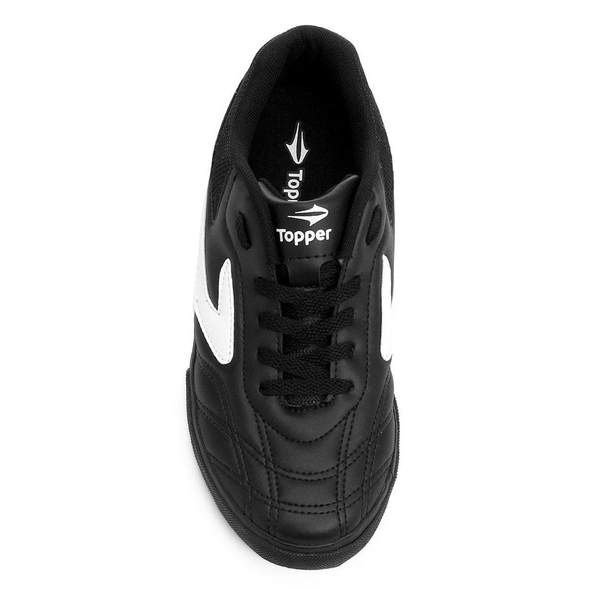 Tênis Futsal Masculino Topper Dominator III Preta e Branca - Compre ... 5468a03793490