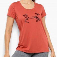 Camiseta Under Armour Graphic Tech Feminina - Preto e Salmão