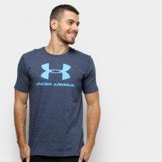 Camiseta Under Armour Sportstyle Logo 19 Masculina - Azul Escuro