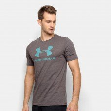 Camiseta Under Armour Sportstyle Logo 19 Masculina - Cinza