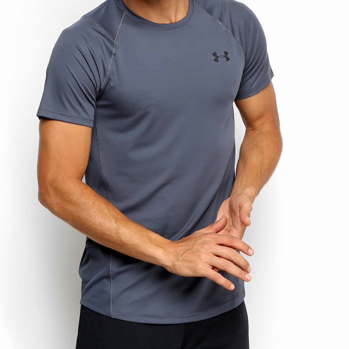 Camiseta Under Armour MK-1 Masculina - Chumbo