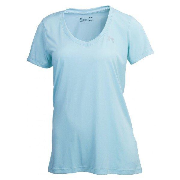 Camiseta Under Armour V-Neck Feminina - Verde Água