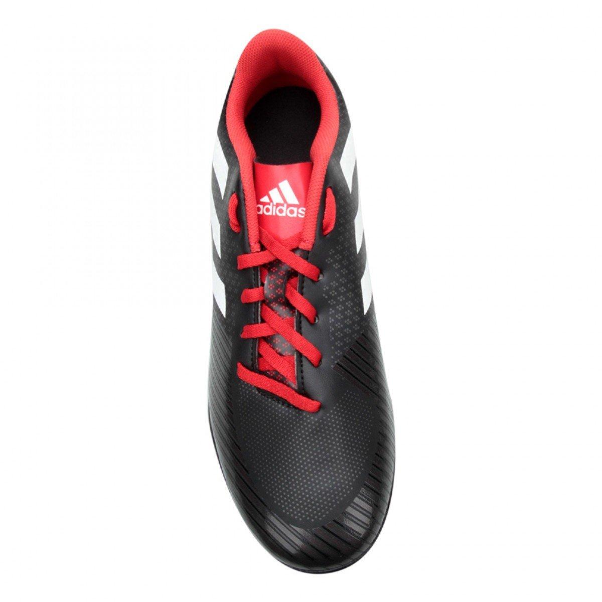 ... Chuteira Society Adidas Artilheira III TF Masculina - Preta e Vermelha  ... 5ef9799feda2c