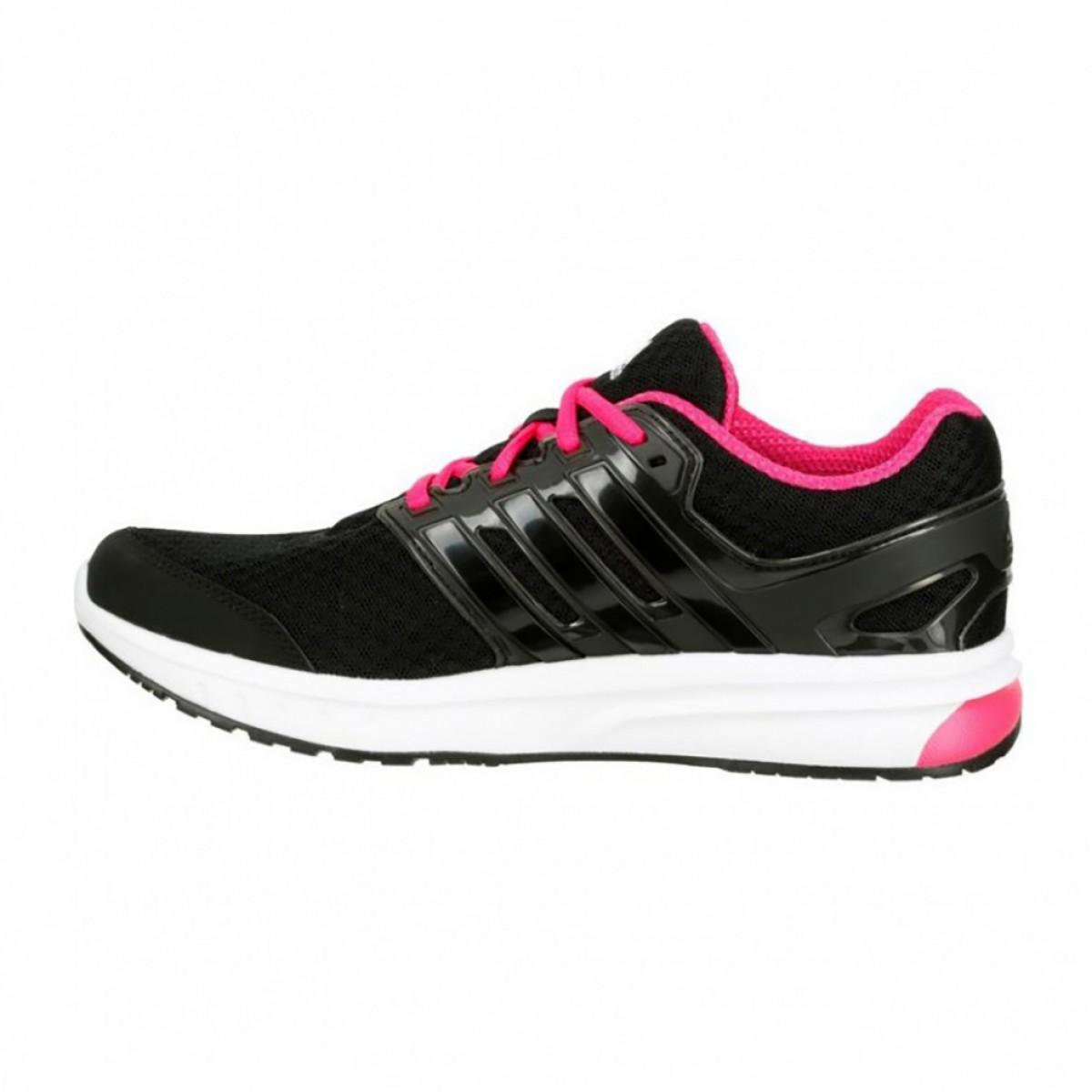 d092d5d8de9 ... Tênis Adidas Galaxy Elite Feminino - Preto e Rosa ...