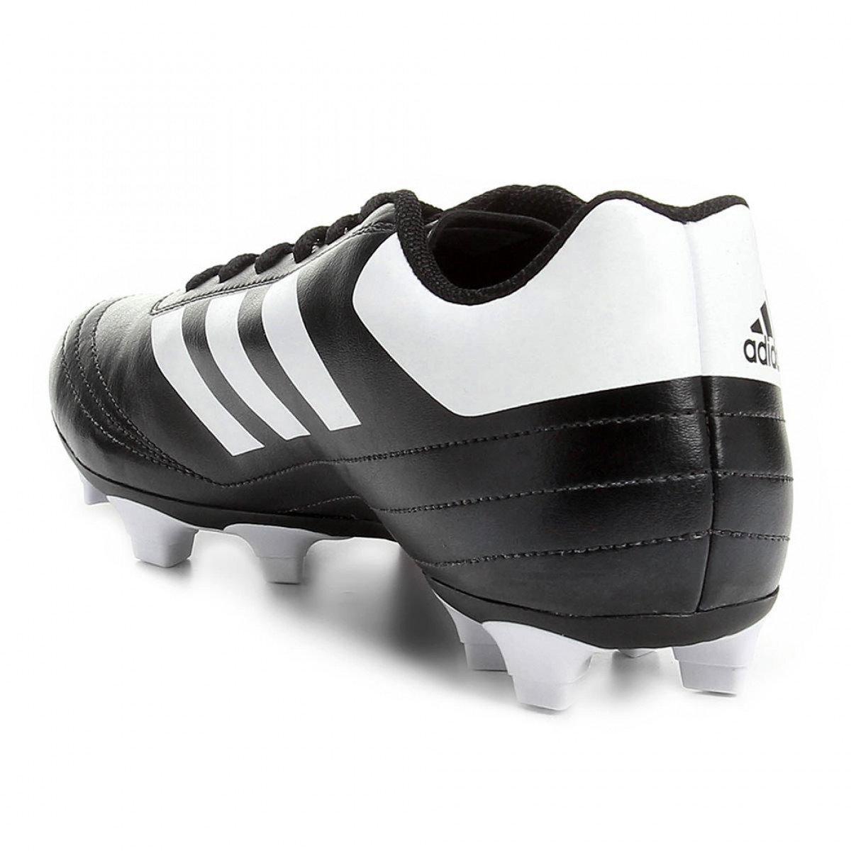 Chuteira Campo Adidas Goletto 6 FG Masculina Preta e Branca - Compre ... 2b46d71e898a5