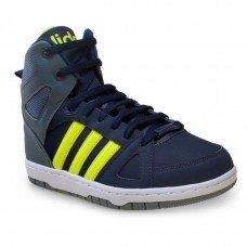 Tênis Adidas Neo Hoops Team Mid Masculino - Azul e Verde