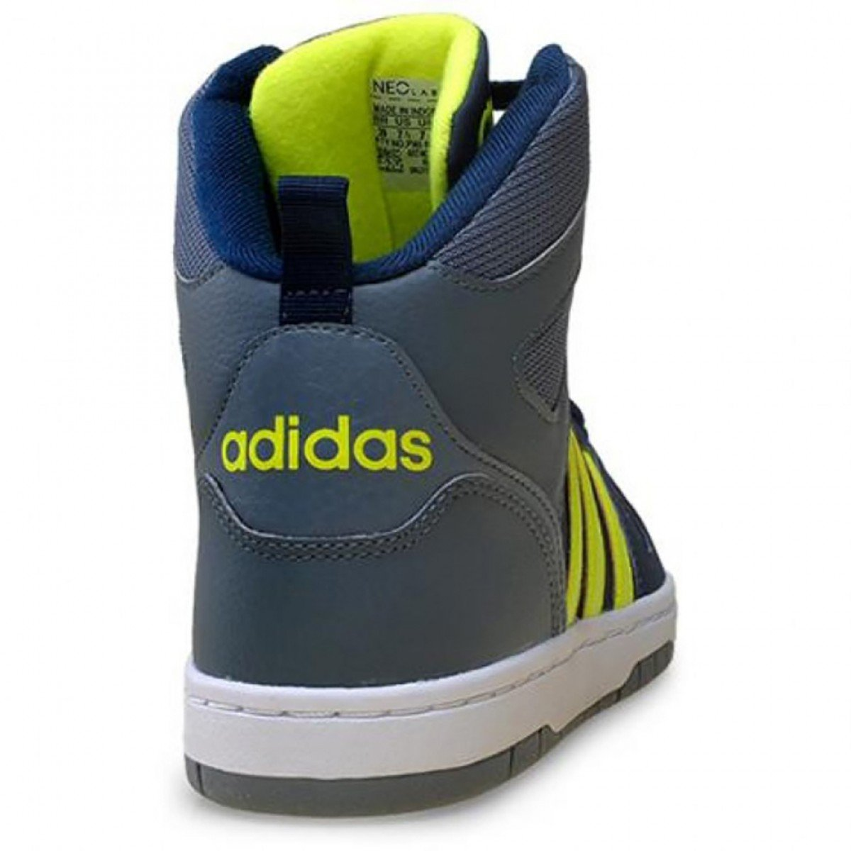 2bd4db9d5a4 Tênis Adidas Neo Hoops Team Mid Masculino Azul e Verde - Compre ...
