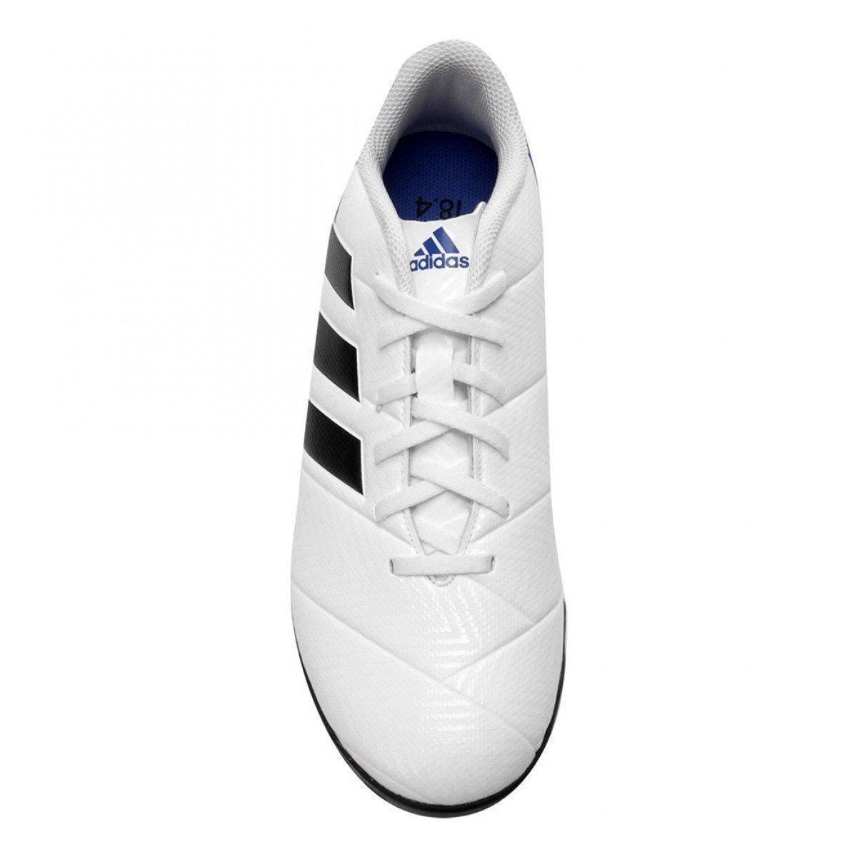 ... Chuteira Society Adidas Nemeziz Messi Tango 18.4 - Branco e Azul ... bf0fed9868c4a
