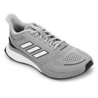 Tênis Adidas Nova Run Masculino - Cinza e Branco