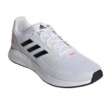 Tênis Adidas Runfalcon 2.0 Masculino - Branco e Laranja