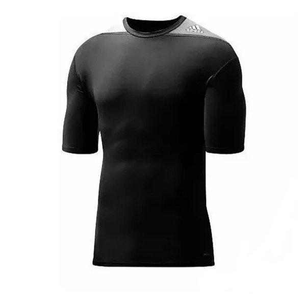 Camisa De Compressão Adidas Techfit Base - Preto