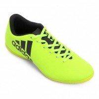 Chuteira Futsal Adidas X 17.4 IN Masculina - Verde Limão