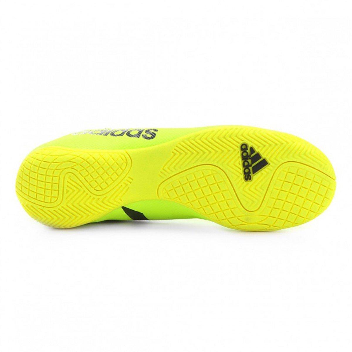 ... Chuteira Futsal Adidas X 17.4 IN Masculina - Verde Limão f1ce60912c253