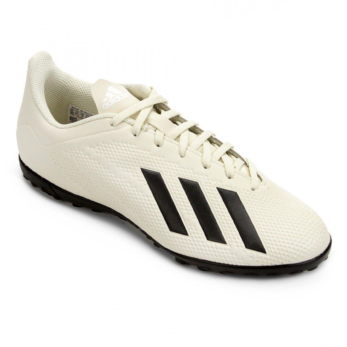 Chuteira Society Adidas X Tango 18 4 TF Masculina - Branca e Preta ... 2f45bb1253e0c