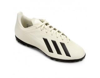Chuteira Society Adidas X Tango 18 4 TF Masculina - Branca e Preta