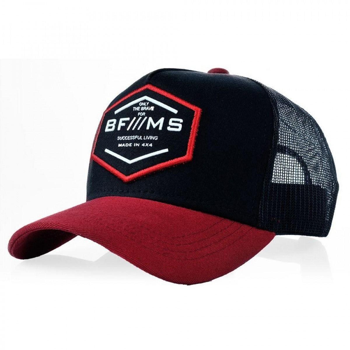 Boné Aba Curv BF  MS Brave Preto e Vermelho Masculino - Compre Agora ... d61047da5452e