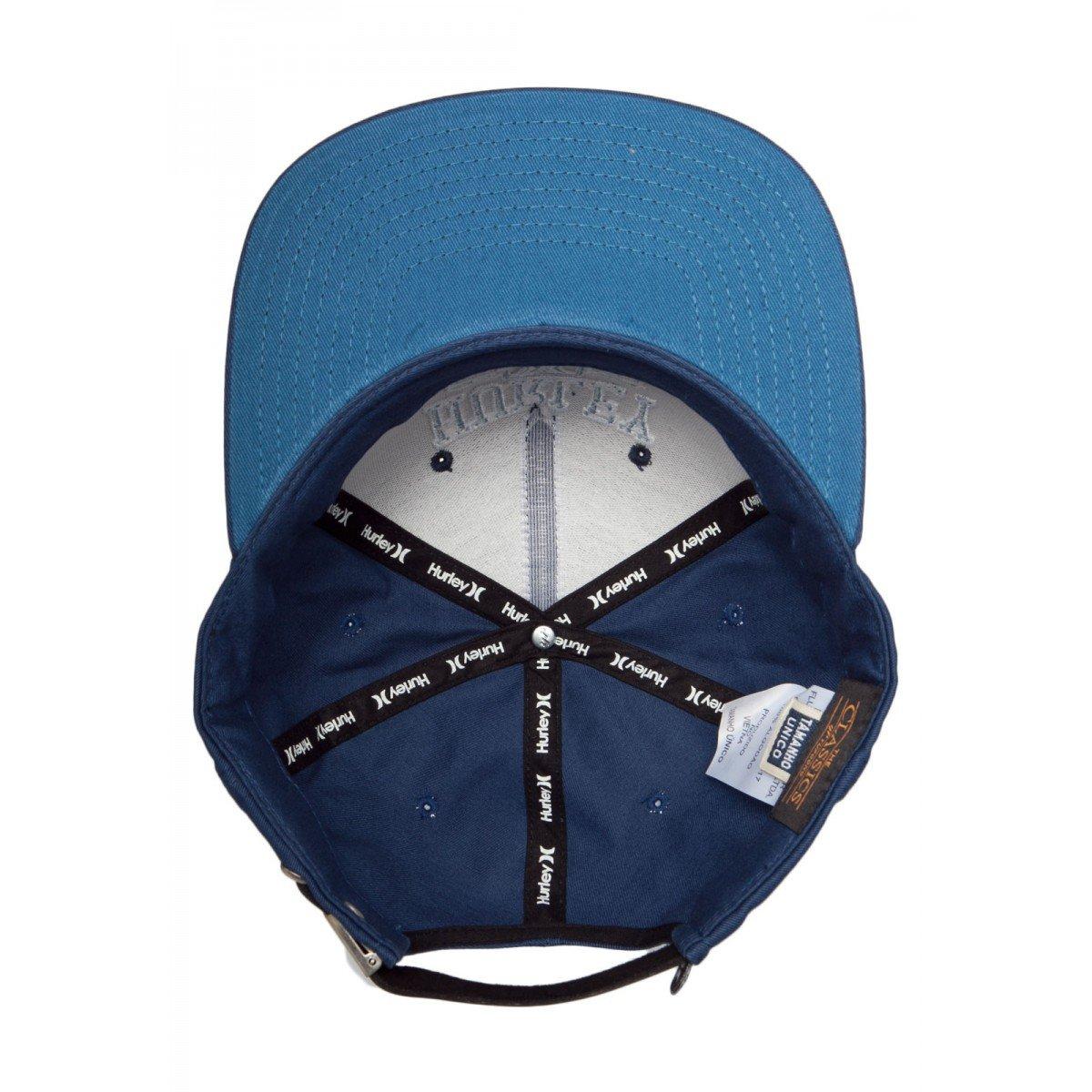 Boné Masculino Hurley Snapback Logo Azul - Compre Agora  ddacc2a3907