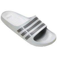 Chinelo Adidas Duramo Slide Masculino - Branco E Cinza