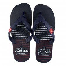 Chinelo Cartago Dakar Listras Masculino - Marinho