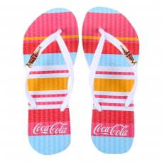 Chinelo Coca Cola Colored Lines Feminino - Branco