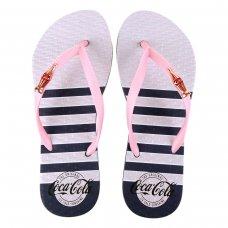 Chinelo Coca Cola Metallic Straps Feminino - Marinho e Rosa