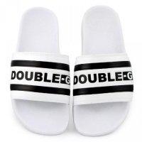 Chinelo Double-G Slide Listrado Masculino - Branco