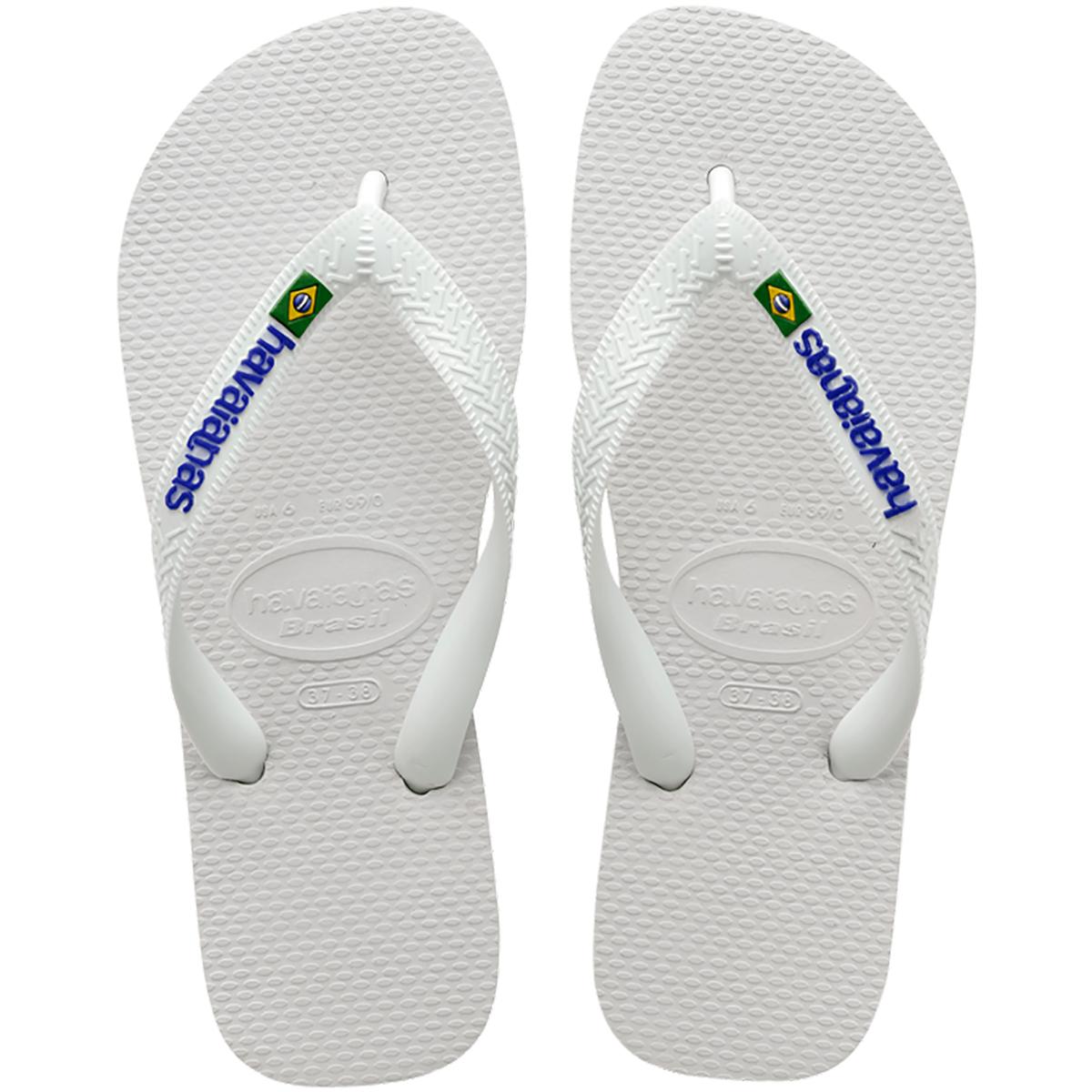 Chinelo Havaianas Brasil Logo - Branco
