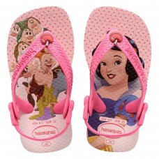 Chinelo Havaianas Baby Disney Cuties Menina - Rosa