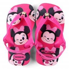 Chinelo Infantil Havaianas New Baby Disney Classic - Rosa e Branco