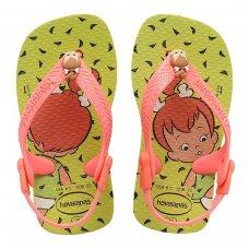 Chinelo Infantil Havaianas Baby Flintstones - Amarelo