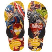 Chinelo Havaianas Kids Max Marvel - Laranja