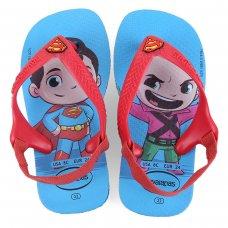 Chinelo Havaianas Infantil Baby Heróis - Vermelho e Azul