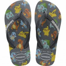 Chinelo Havaianas Infantil Top Pokemon - Grafite