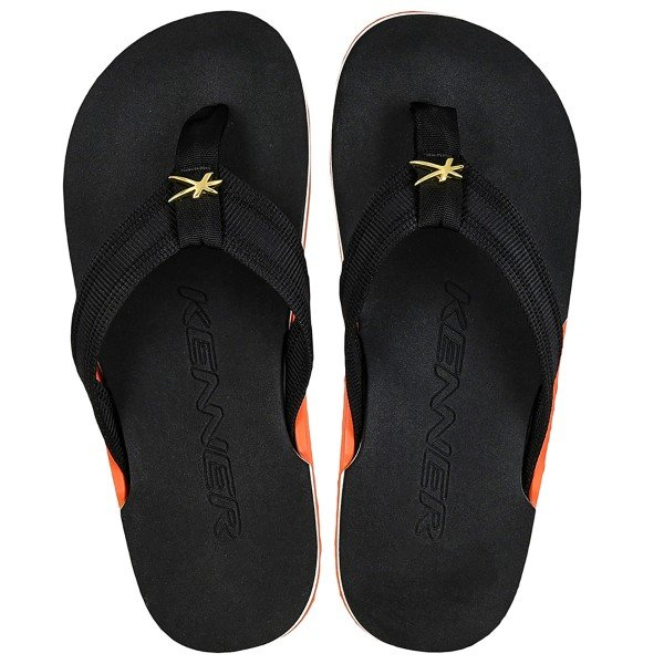 Chinelo Kenner Nk6 Highlight HGE Masculino - Preto e Laranja