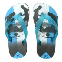 Chinelo Infantil Kenner Summer Football Masculino - Azul