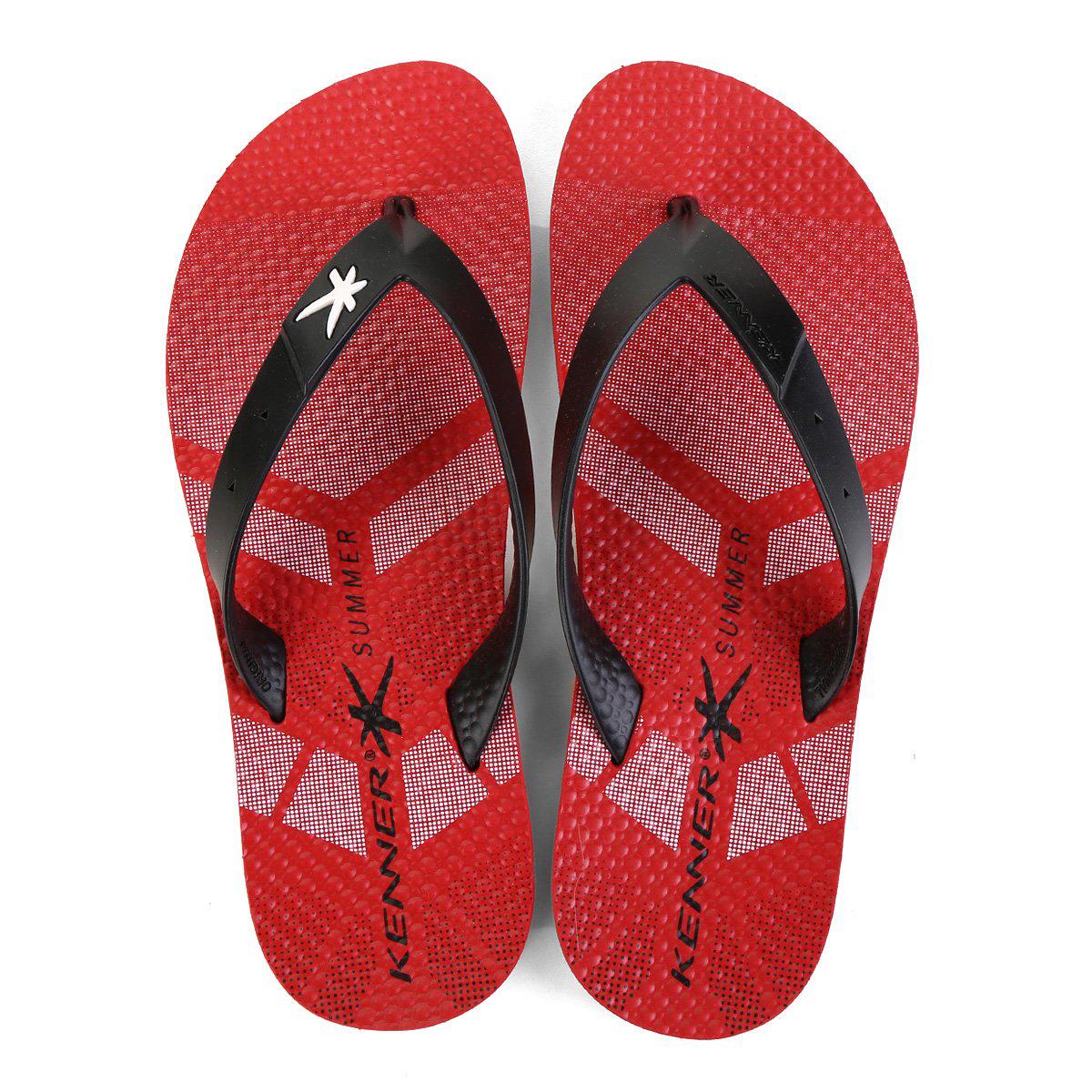 Chinelo Kenner Summer Sport TIS Masculino - Vermelho
