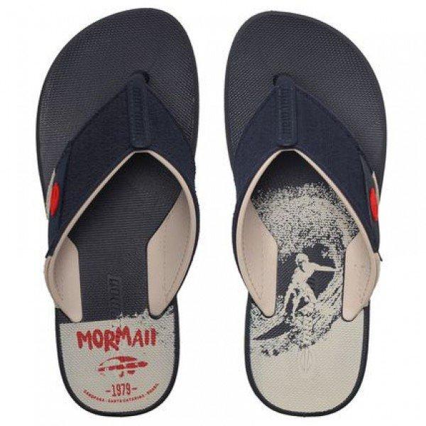 Chinelo Mormaii Drop II Masculino - Azul e Bege