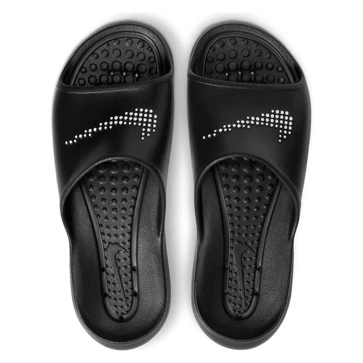 Chinelo Slide Nike Victori One Shower Masculino - Preto e Branco