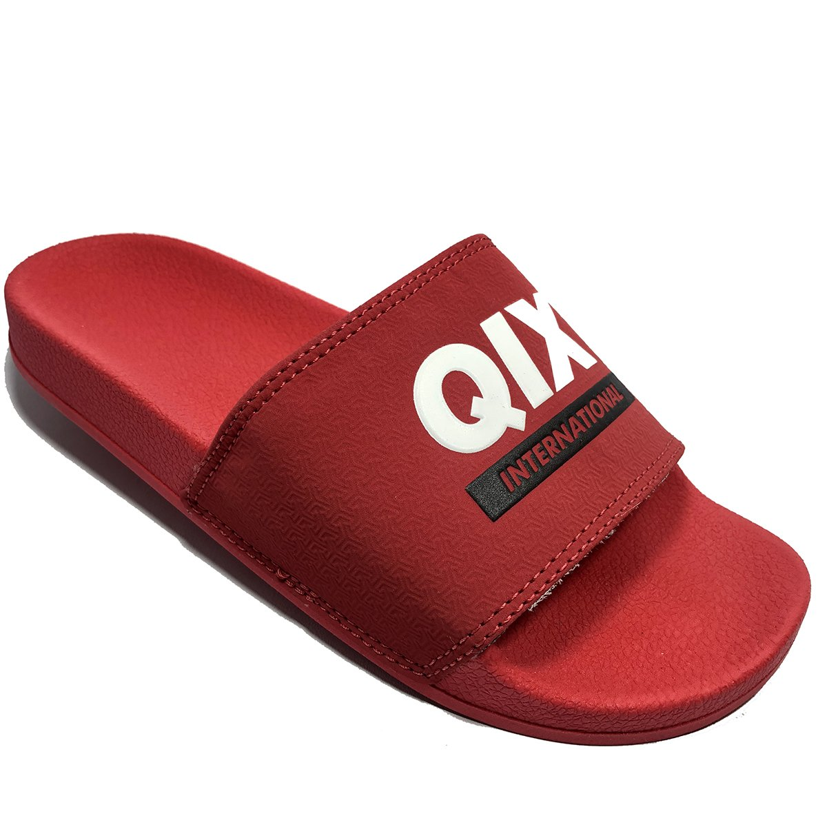 Chinelo Slide QIX Logo International - Vermelho
