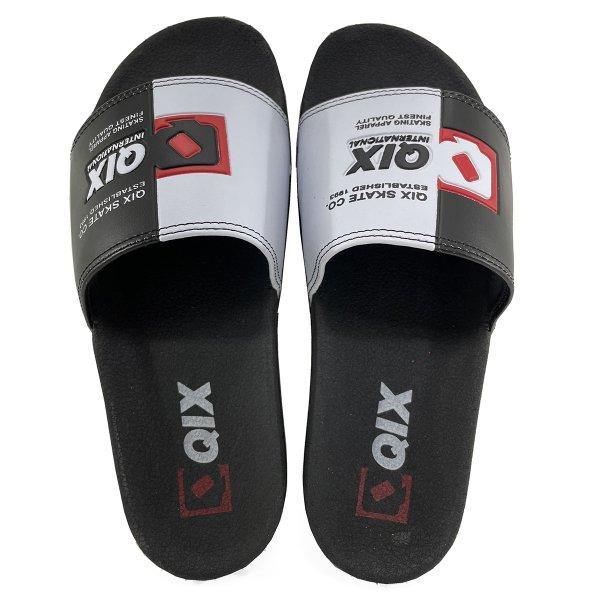 Chinelo Slide QIX Skate Masculino - Preto e Branco
