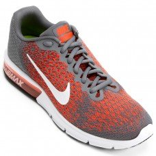 Tênis Nike Air Max Sequence 2 Masculino - Laranja e Cinza